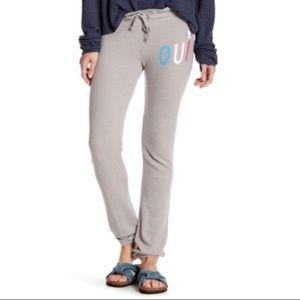 WILDFOX Oui jogger sweatpants slim fit M gray NEW